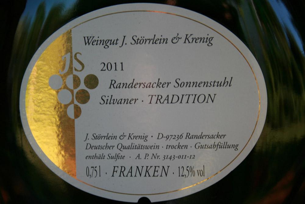 2011 Randersacker Sonnenstuhl Silvaner Kabinett trocken