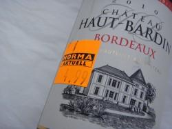 2010 Chateau Haut-Bardin für 4,99 Euro
