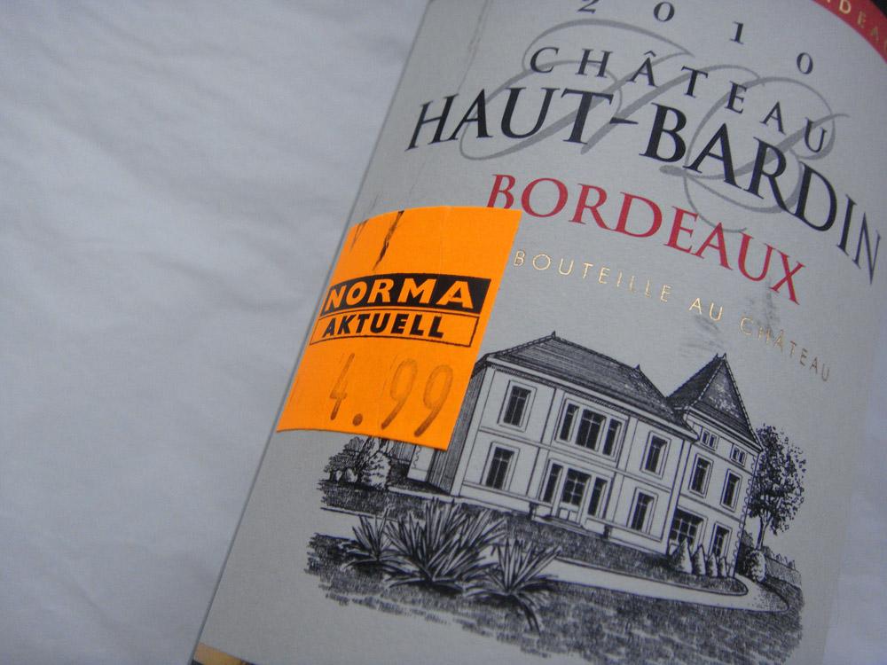 2010 Chateau Haut-Bardin aus Bordeaux für 4,99 bei Norma