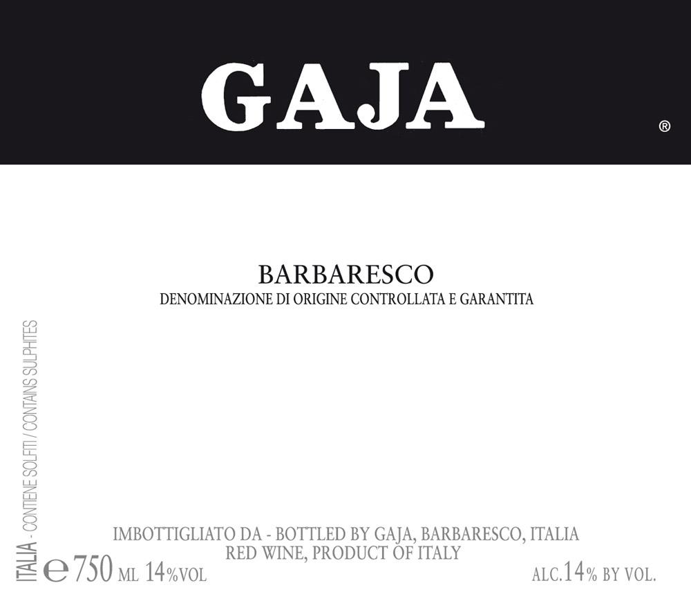 Etikett 2009 Barbaresco