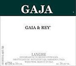 Etikett 1999 Langhe Gaia & Rey