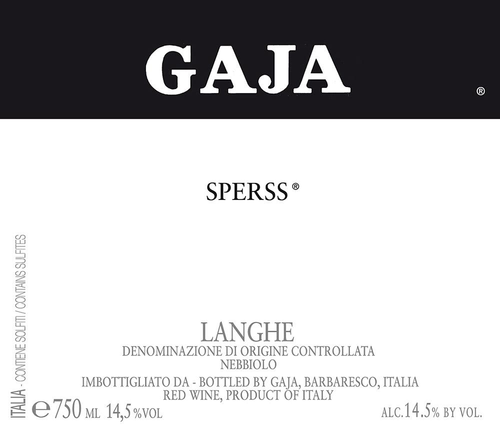 Etikett 1999 Langhe Nebbiolo Sperss