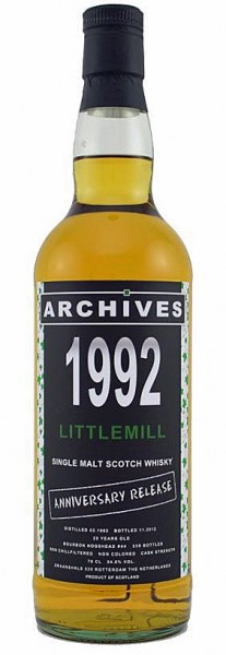 Littlemill 20y 92-12 Archives Anniversary Release Bourbon cask 44 – 54.8%