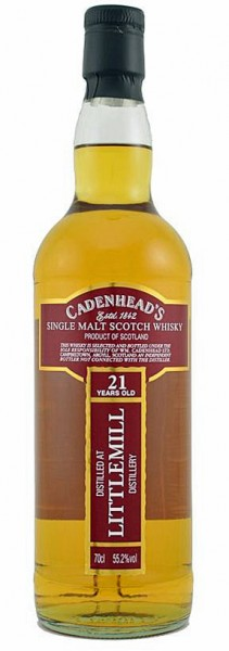 Littlemill 21y 91-12 Cadenhead Closed Distilleries Bourbon barrel, 192Btl – 55,2%