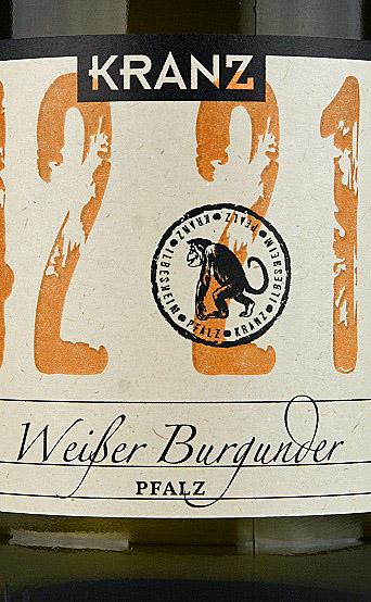 Etikett 2012 Weißburgunder - Weingut Kranz