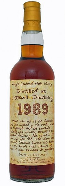 Littlemill 22y 89-11 Thosop Handwritten Label Refill Sherry, 227Btl – 50,5%