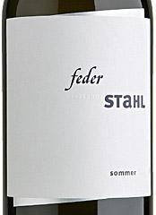 Feder Stahl Sommer Etikett