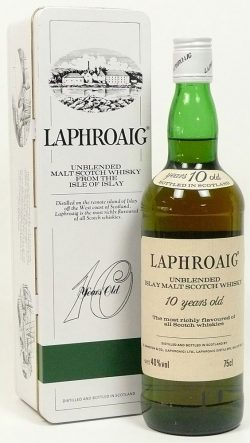 Laphroaig 10y Unblended screw cap, bottled around 1980, 40.0%