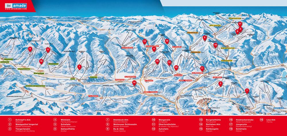 Ski Amadé mit seinen 19 weinzertifizierten Hütten