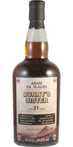 Bunnahabhain 21y 1990-2011 Bunny's Sister, 1st Fill Sherry Cask 51, 54.8% - limited 90