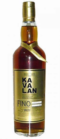 Kavalan 2012 Solist Fino, Fino Sherry butt S060814050, 58.1% – limited 554