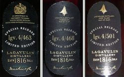 Lagavulin Destillers Edition 4/463, 4/468 und 4/501
