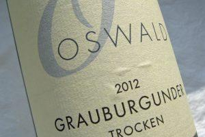 Etikett 2012 Grauburgunder | Weingut Oswald