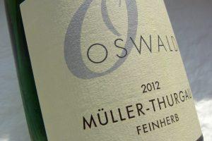 Etikett 2012 Müller-Thurgau | Weingut Oswald