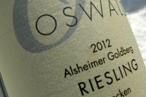 Etikett 2012 Alsheimer Goldberg Riesling | Weingut Oswald