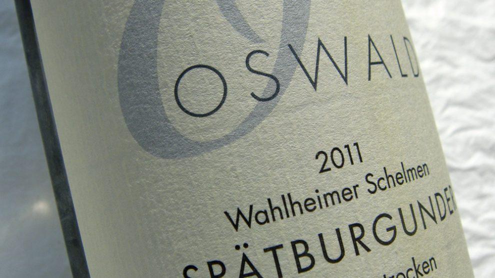 Etikett 2011 Wahlheimer Schelmen Spätburgunder Barrique trocken | Weingut Oswald