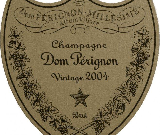 Etikett 2004 Dom Perignon
