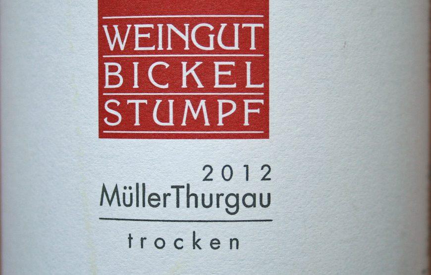 2012 Müller-Thurgau trocken - Weingut Bickel-Stumpf