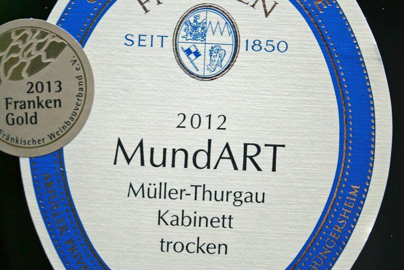 2012 Thüngersheimer Johannisberg Müller-Thurgau Kabinett, Mundart