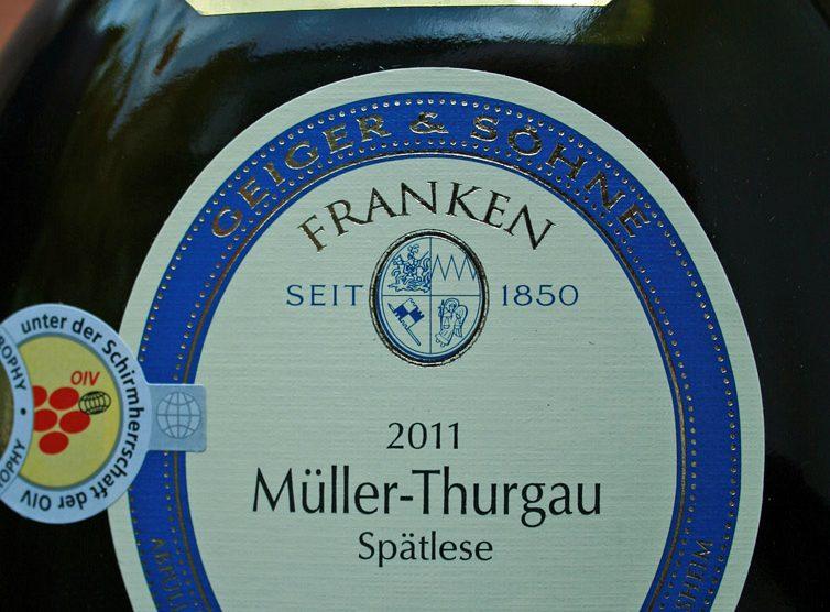 2011 Thüngersheimer Ravensberg Müller-Thurgau Spätlese