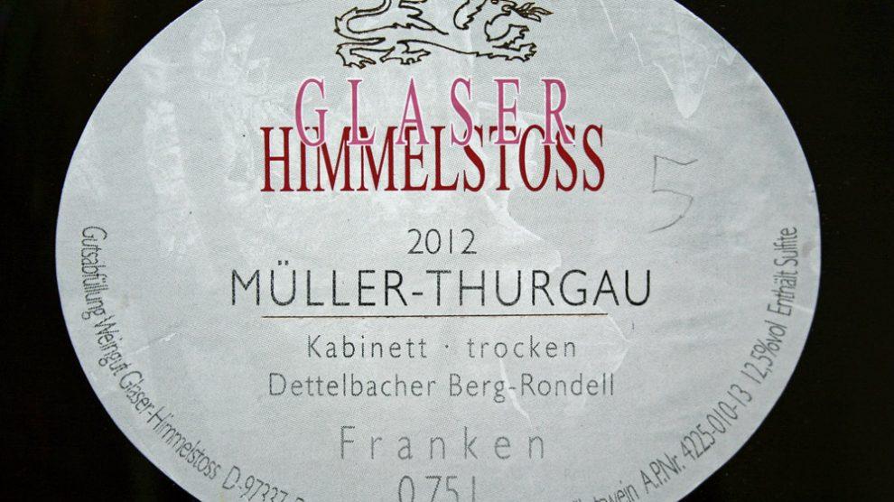 2012 Dettelbacher Berg-Rondell Müller-Thurgau Kabinett trocken