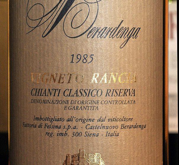 1985 Chianti classico Riserva Rancia