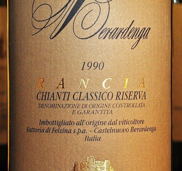 1990 Chianti classico Riserva Rancia