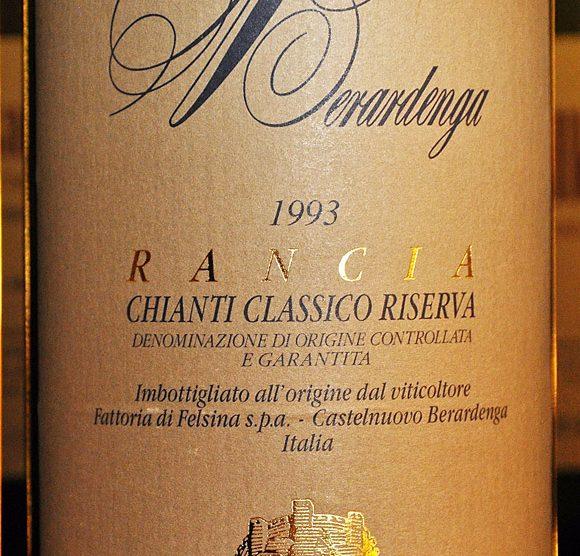 1993 Chianti classico Riserva Rancia