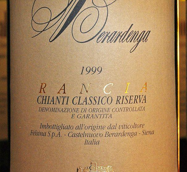 1999 Chianti classico Riserva Rancia