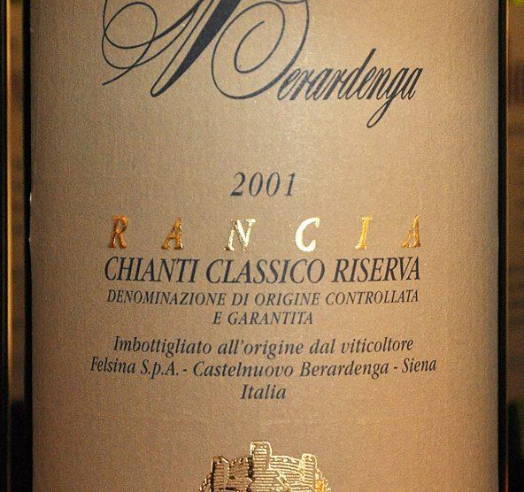 2001 Chianti classico Riserva Rancia