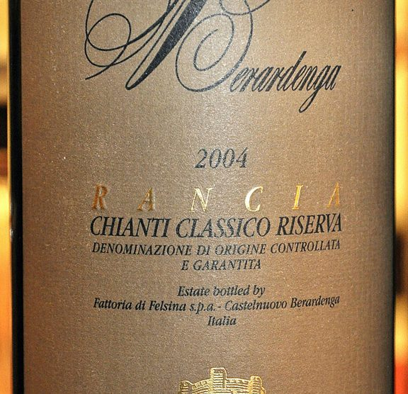 2004 Chianti classico Riserva Rancia
