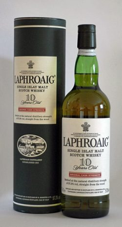 Laphroaig 10y ~1994-2004 Red Stripe, Original Cask Strength (LU17266) – 57.3%