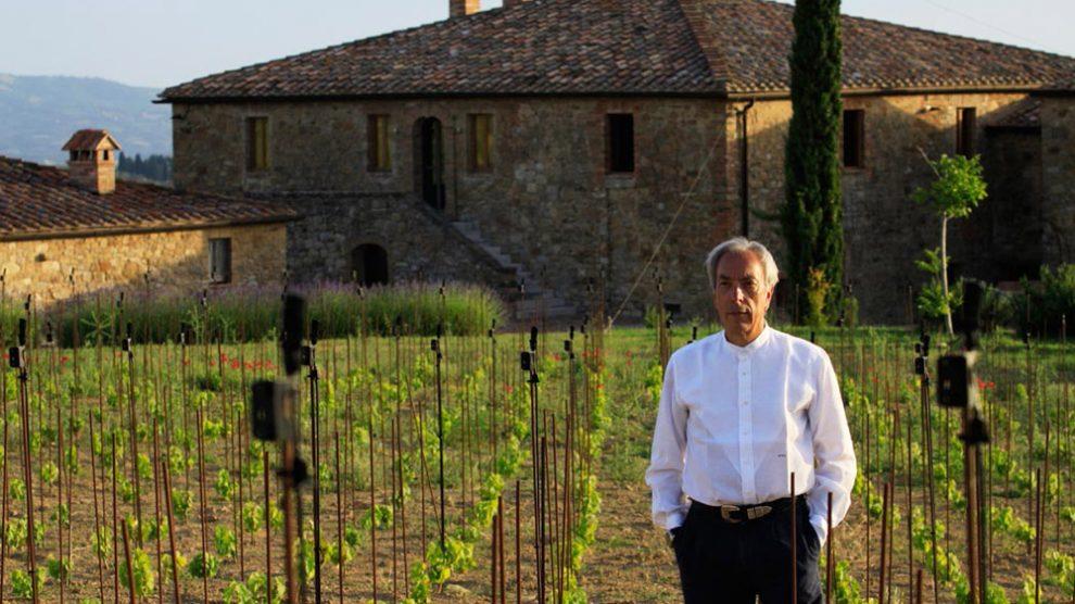 Marco Keller pflanzt Merlot in Montalcino