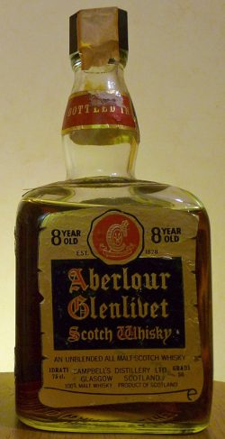 "Aberlour 8 year old cube bottle ""very dark Sherry"", abgefüllt ~1970 - 50 Gradi"