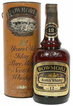 Bowmore 12y ~ 1960er - OB Dumpy brown bottle - bottled Ende 1970er - 43%