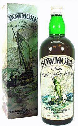 Bowmore> 8y ~ 1950er - OB Ship label, duty free bottling 1960er - 35 Fl.Oz. & 75 Proof - 43%