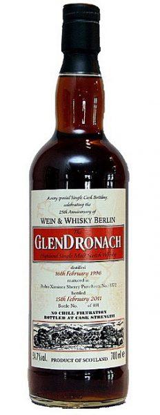 Glendronach 14y 96-11 Wk for 25.A. Wein&Whisky Berlin PX #1372 401btl - 54,7%