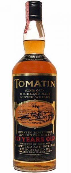 Tomatin 10y ~ 1975-1985 OB old label, no age in necklabel, black screw cap 0,75L – 43%