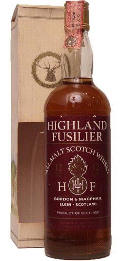 Highland Fusilier 12y ~1985 G&M, All Malt Scotch Whisky - 40%