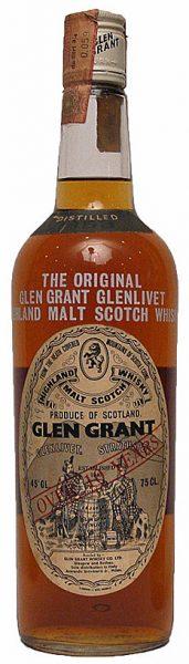 Glen Grant 10y 1958 OB for Giovinetti, over 10yo, white letters on glas - 45%