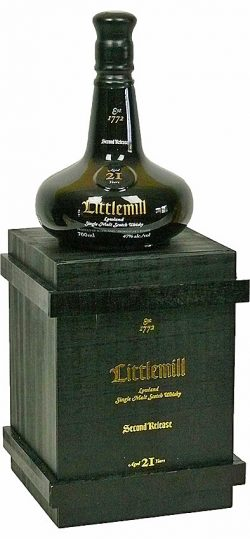 Littlemill 21y 2014 OB 2nd Rel. Black Dumpy Bottle in Wooden Box 4.550btl - 47%