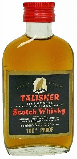 Talisker 1970er G&M 100 proof golden eagle red screw cap - 57%