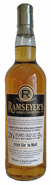 Irish Single Malt 26y 88-14 Ramseyer's Whisky Connection Bourbon Barrel 175btl - 50,4%