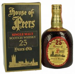 House of Peers 25y 55-80 DL dumpy brown bottle Blend - 75°, 43%