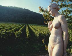 Eva-Skulptur im Deidesheimer Paradiesgarten
