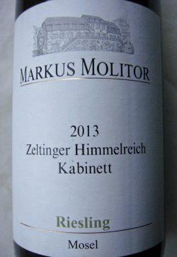 2013 Zeltinger Himmelreich Riesling Kabinett | Markus Molitor