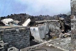 Zerstörte Häuser auf Fogo