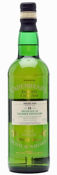 Talisker 18y 79-98 Cad Authentic Collection 07.1979/04.1998 Oak Cask – 61,1%