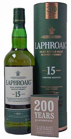 Laphroaig 15y 2015 OB Limited Edition 200th Anniversary 72.000btl - 43%