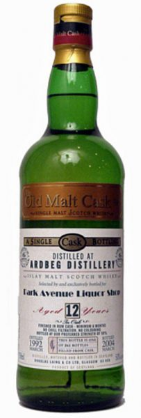 Ardbeg 12y 92-04 DL OMC for Park Avenue Liquor NY Rum Cask Finish 261btl - 50%